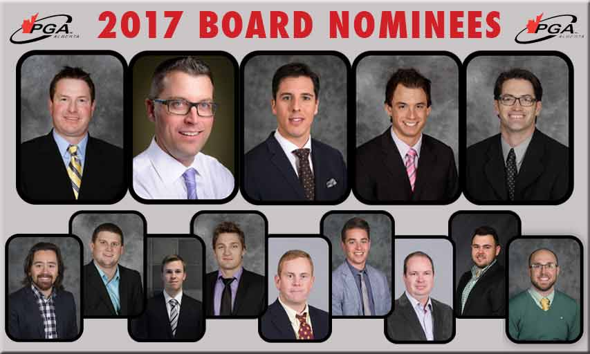 2017 PGA of Alberta Board Nominees
