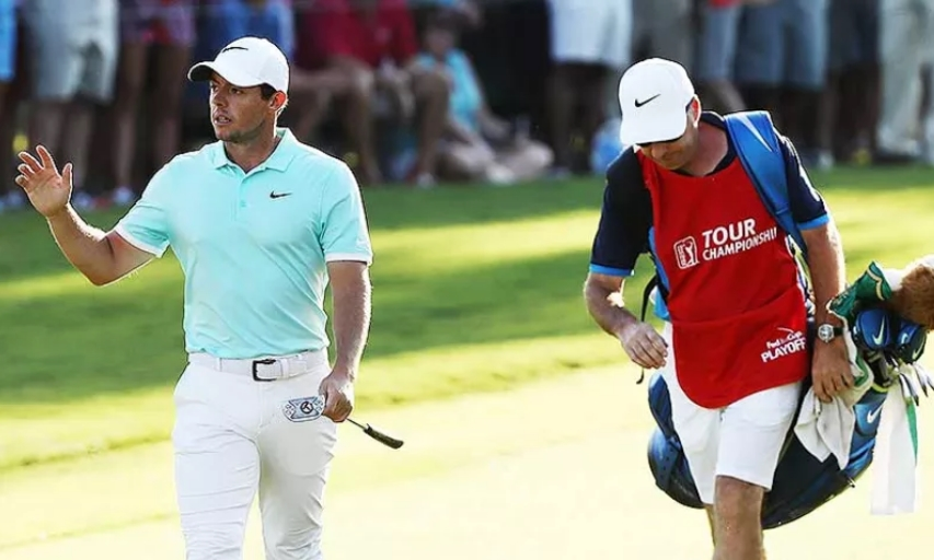 Rory McIlroy and Caddie J.P. Fitzgerald