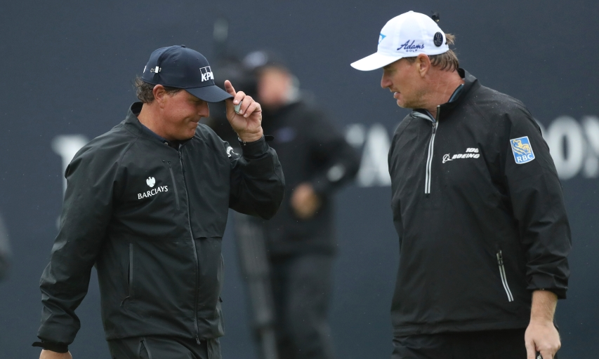 Phil Mickelson and Ernie Els