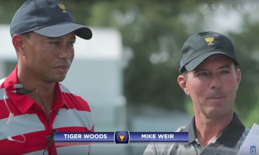 Tiger Woods and Mike Weir