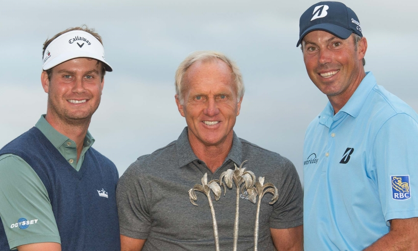 Harris English, Greg Norman, Matt Kuchar