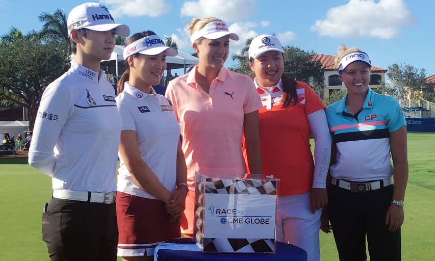 Sung Hyun Park, So Yeon Ryu, Lexi Thompson, Shanshan Feng and Brooke Henderson