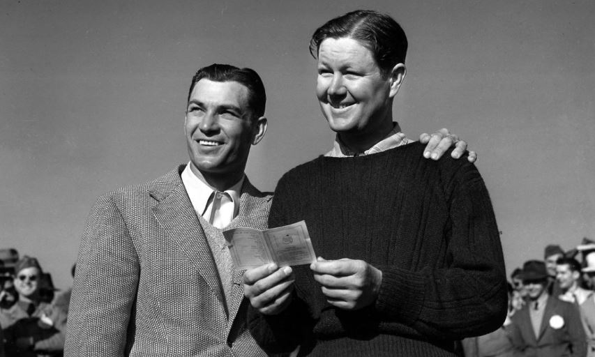 Ben Hogan and Byron Nelson at the 1942 Masters