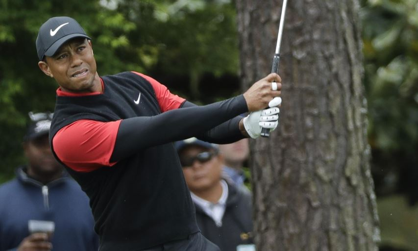 Tiger Woods at the 2018 Masters