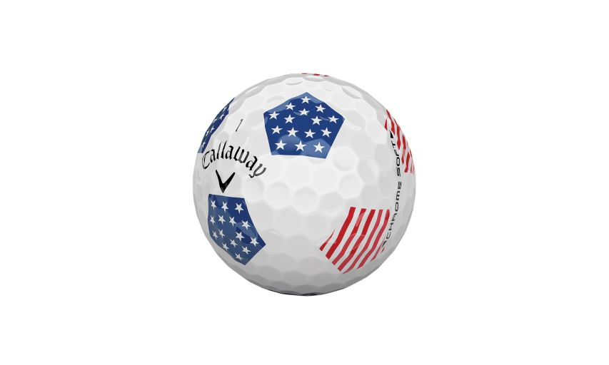 Callaway Golf Chrome Soft Truvis Stars and Stripes Golf Ball