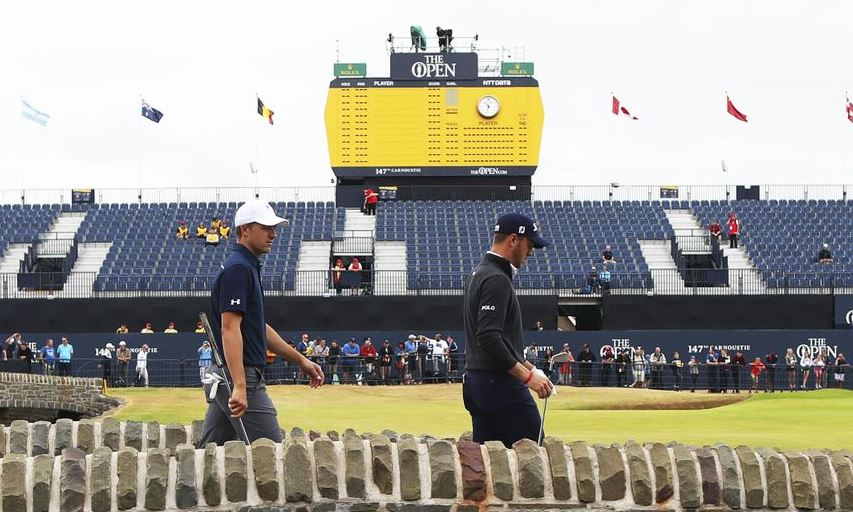 Jordan Spieth and Justin Thomas at the 2018 British Open