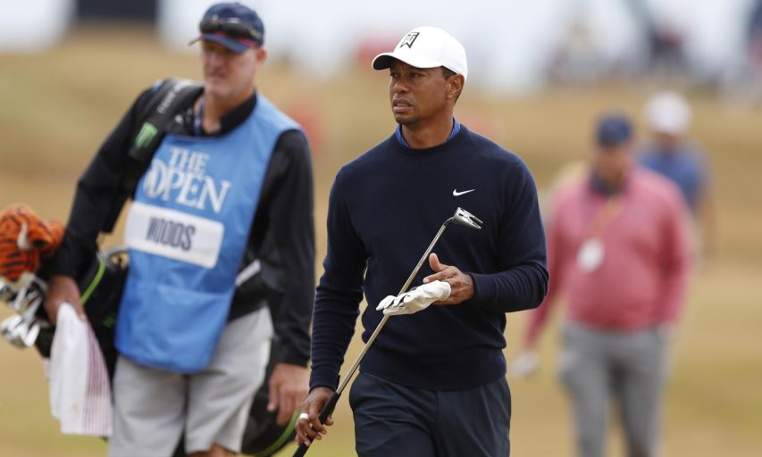 Tiger Woods at the 2018 British Open