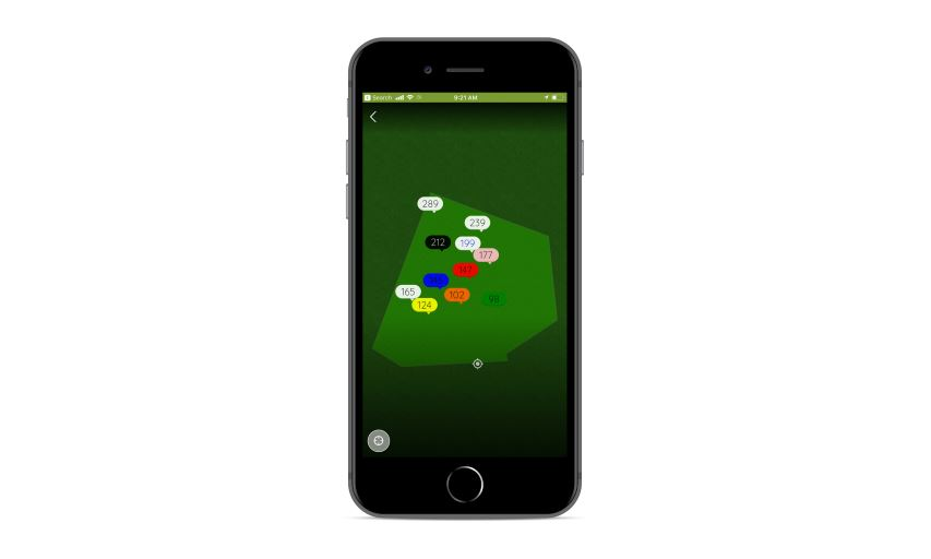 Gallus Golf GPS Yardage Feature