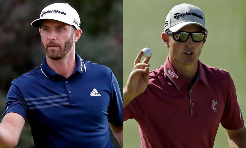 Dustin Johnson and Justin Rose