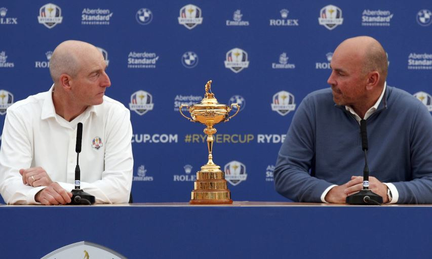2018 Ryder Cup Team Captains Jim Furyk and Thomas Bjorn