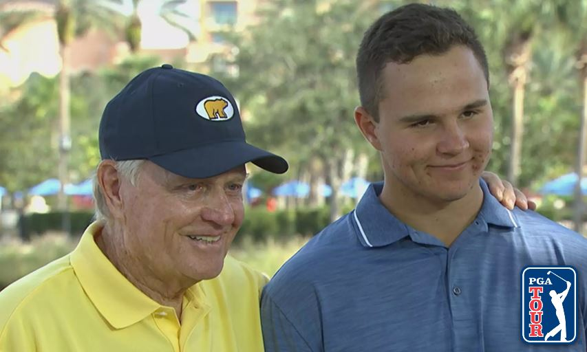 Jack Nicklaus and grandson GT