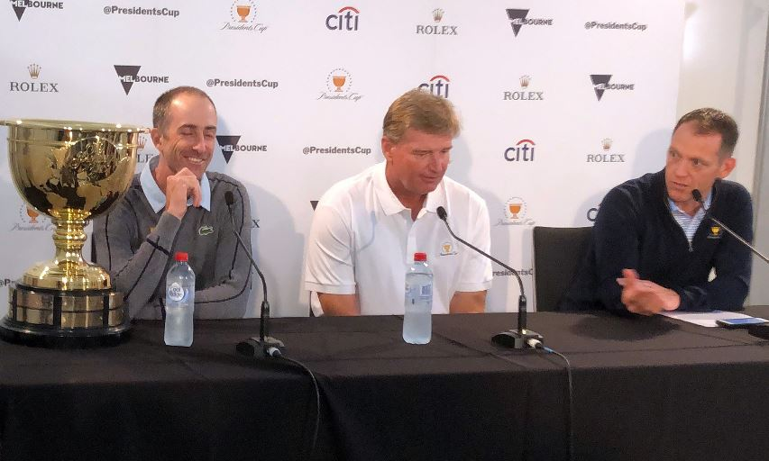 Geoff Ogilvy and Ernie Els