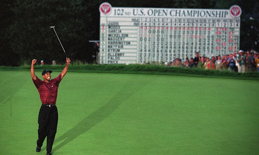 Tiger Woods winning the 2002 U.S. Open