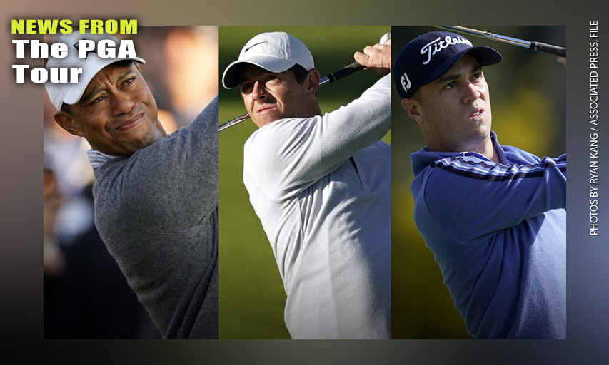 Tiger Woods, Rory McIlroy, Justin Thomas