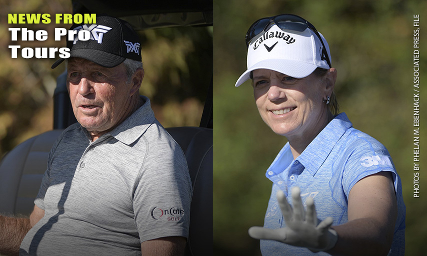 Gary Player and Annika Sörenstam